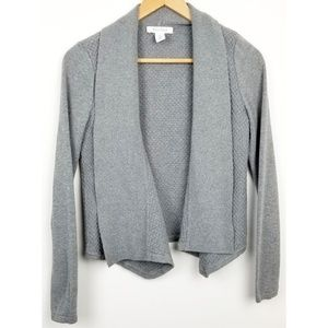 White House Black Market small gray sweater